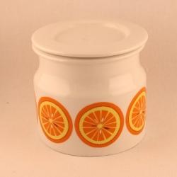 Arabia/アラビア ジャムポット(オレンジ柄) Pomona/ポモナ