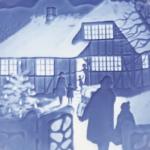 Bing & Grøndahl クリスマスプレート 1973年 Country Christmas