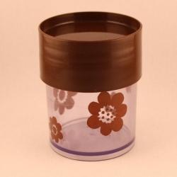 Erik Kold/エリック・コルド 茶色の花柄キャニスター(小) 6000