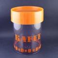 コーヒーの豆柄キャニスター(オレンジ色)
