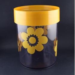 Erik Kold/エリック・コルド 黄色の大花柄キャニスター(大) 6035