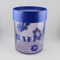 青の花柄キャニスターコーヒー用
