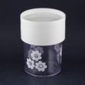 白の小花柄キャニスター(XS)