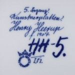 Henry Heerupイラストのクリスマスプレート 1974