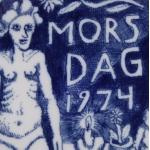 Seppo Mattinenイラストの母の日プレート/マザーズデイ 1974