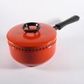 王冠模様の片手鍋(赤)