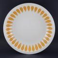 オレンジのロータス深皿