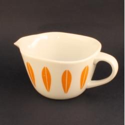 Lyngby Porcelain/リュンビュー・ポーセリン オレンジ色のクリーマー Lotus/ロータス