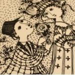 Nymolle/ニュモール Wiinblad/ウィンブラッドのイラスト壁掛け(6月) 3013-6