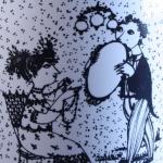 Nymolle/ニュモール Wiinblad/ウィンブラッドのイラストカップ(9月) september
