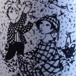 Nymolle/ニュモール Wiinblad/ウィンブラッドのイラストカップ(10月) oktober