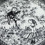 Nymolle/ニュモール ヴィンブラッドのイラスト壁掛け大皿 Autumn/秋