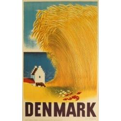 Aage Rasmussenデザインの田舎風景ポスター (リプリント) Denmark
