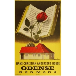 Aage RasmussenデザインのOdense(オーデンセ)ポスター (リプリント) アンデルセンの家