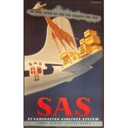 Aage Rasmussenデザインのスカンジナヴィア航空ポスター (リプリント) SAS