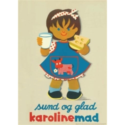 Grete RichデザインのCarolineポスター (リプリント) Girl/女の子