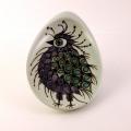 鳥(紫)のイラスト小皿