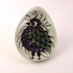 Royal Copenhagen/ロイヤル・コペンハーゲン 鳥(紫)のイラスト小皿 Tenera/テネラ