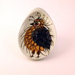 Royal Copenhagen/ロイヤル・コペンハーゲン 鳥(橙)のイラスト小皿 Tenera/テネラ