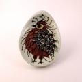 鳥(赤)のイラスト小皿
