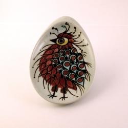 Royal Copenhagen/ロイヤル・コペンハーゲン 鳥(赤)のイラスト小皿 Tenera/テネラ