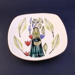 Stavangerflint/スタヴァンゲルフリント Inger Waage(インゲル・ヴォーゲ)による少女のイラスト小皿 17-137