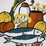 Stavangerflint/スタヴァンゲルフリント 魚のイラスト ランチプレート fish