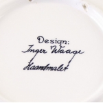 Stavangerflint/スタヴァンゲルフリント Inger Waage(インゲル・ヴォーゲ)イラストのお土産プレート コペンハーゲン
